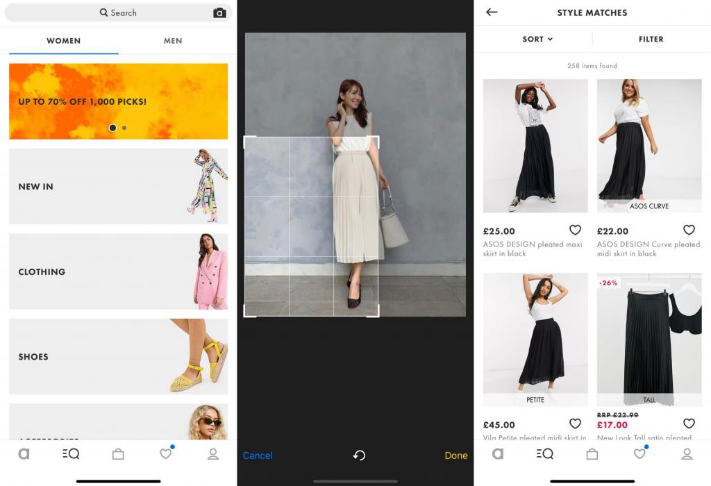 ASOSの画像検索(ファッションAI)